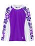 Girls Tuga UV Long Sleeve shoreline swim top agate