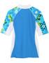 Girls Tuga seaside UV swim shirt cristillo back
