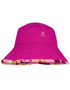 Sun busters Girls UV reversible bucket hat misty pink upf50