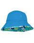 Sun busters Girls UV reversible bucket hat retro ocean upf50