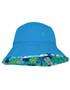 Sun busters Girls UV reversible bucket hat retro ocean upf50