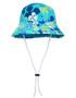 Sun busters Girls UV reversible bucket hat retro ocean
