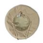 Womens Wallaroo UPF50 microfibre seaside hat camel bottom
