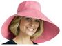 Coolibar wide brim beach hat hibiscus