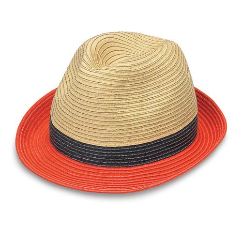 34c555c727d Womens Wallaroo St Tropez trilby hat orange combo