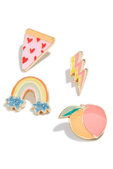 Celebrate Shop 4-Pc. Pin Set (Pastel)