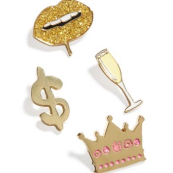 Celebrate Shop 4-Piece Enamel Pin Set - Flair Pin Sets Bling