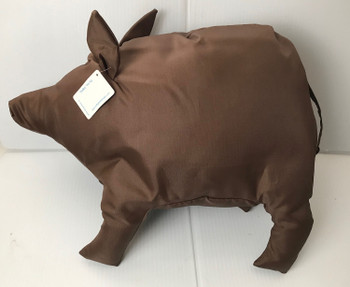 Polka The Pig Stuffed Animal by SoftGoodsDesign Brown