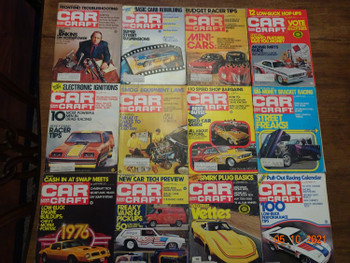 LOT OF 12 CAR CRAFT MAGAZINE ISSUES FULL YEAR 1975 HOT ROD CUSTOM KIT AUTOMOBILE