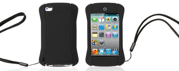 Griffin Technology FlexGrip Action Silicone Case for iPod touch 4G (Black)