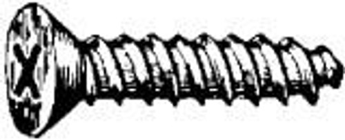 #6 x 1 Black Oxide Phillips Flat Head Tapping Screws