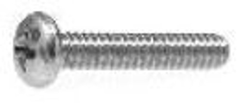 "10-32 x 1"" (8 Hd) Chrome Phillips Oval Head Machine Screws"
