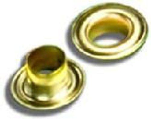 #4 Brass Grommet & Washer with Sharpened Edge