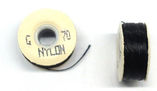 """Black Nylon Bobbins - Size """"G"""""""