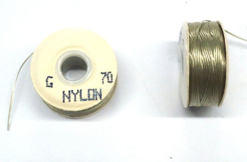 "Natural Nylon Bobbins - Size ""G"""