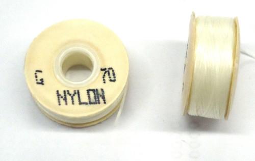 """White Nylon Bobbins - Size """"G"""""""