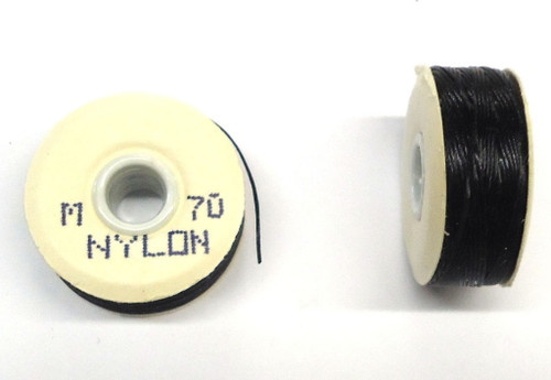 "Black Nylon Bobbins - Size ""M"""