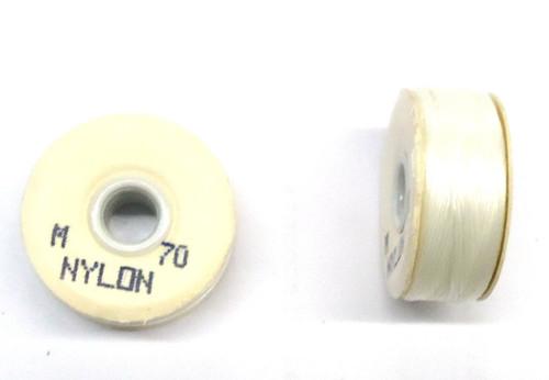 """White Nylon Bobbins - Size """"M"""""""