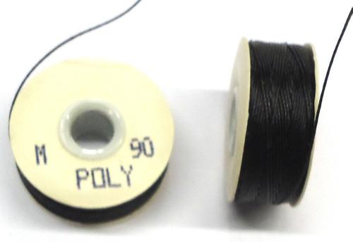"""Black Poly Bobbins - Size """"M"""""""