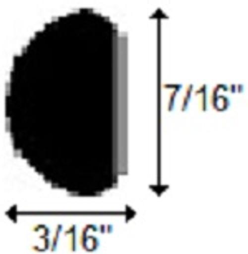 "Black - 7/16"" High Gloss Wheel Well Molding"