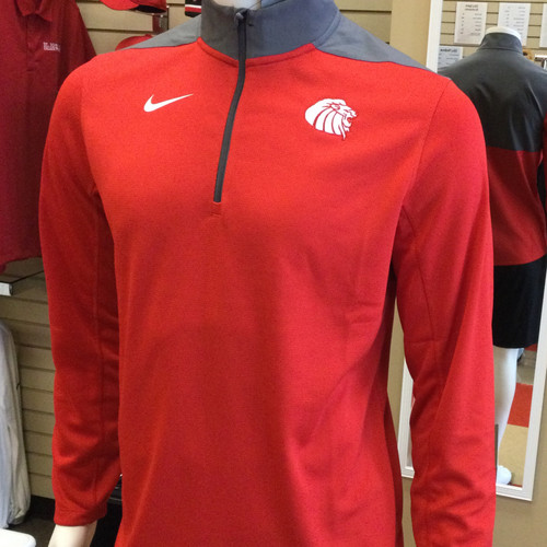 Pullover - 1/4 Zip - Red with White Lion Head