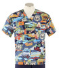 Scrub Med Mens Print Scrub Top Route 66