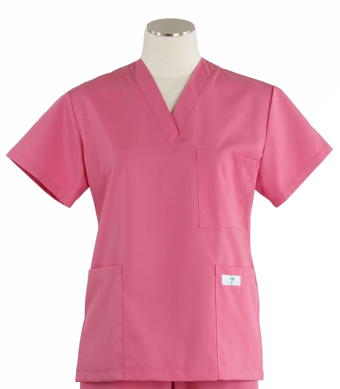 a065a48b1c5 Scrub Med Womens Solid V-Poc Scrub Top Mesa Rose - Scrub Med