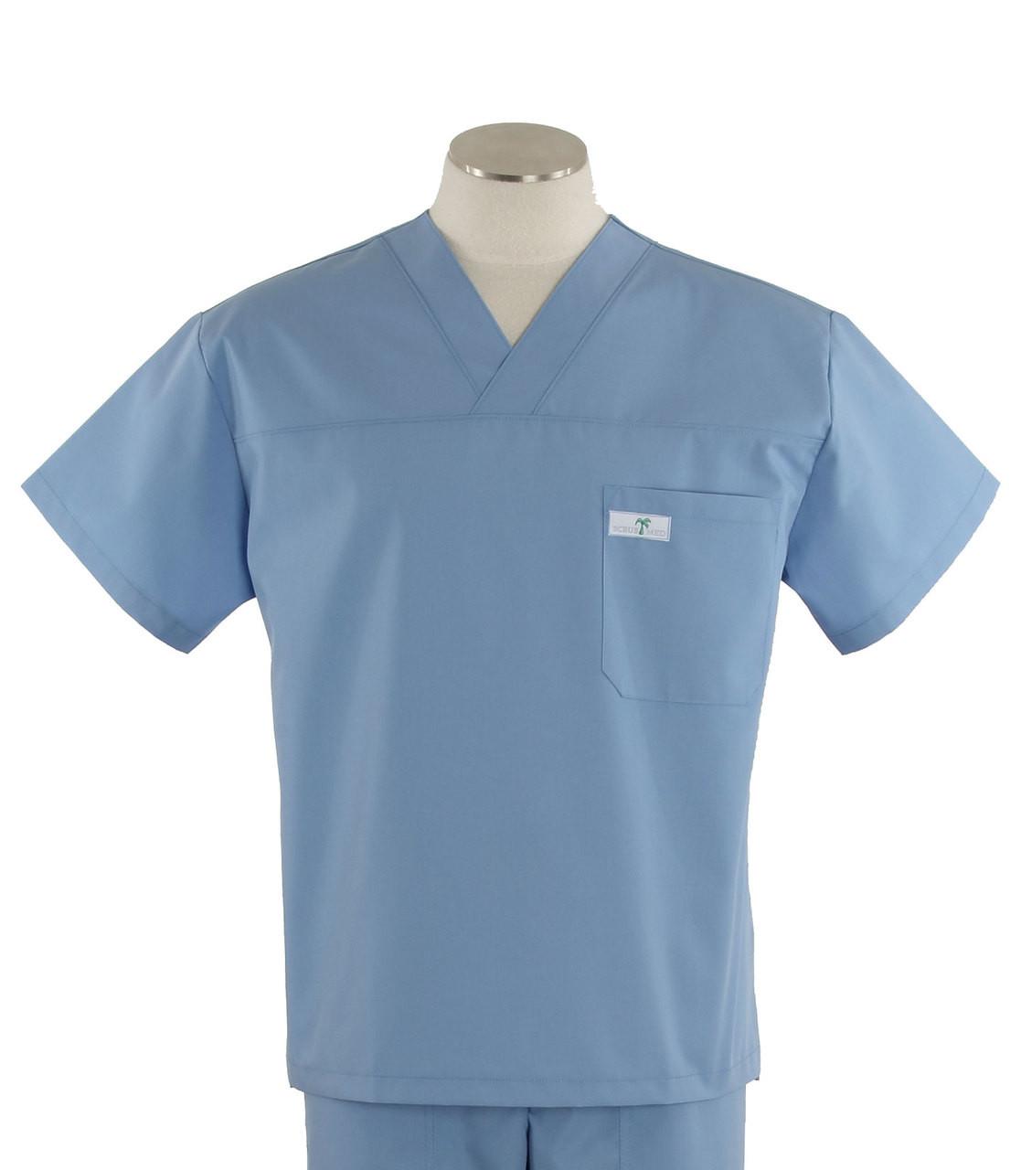 cbdef067356 Scrub Med Mens Solid V-Neck Scrub Top Celestial Blue - Scrub Med