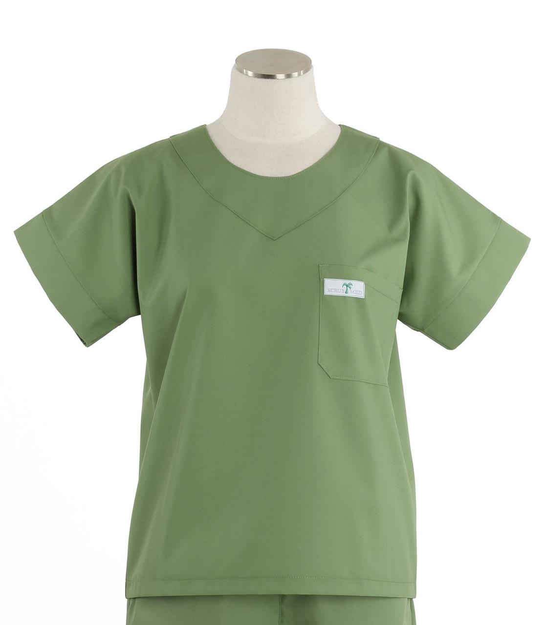 893e98f2403 Scrub Med Womens Solid Scrub Top Bay Leaf - Scrub Med