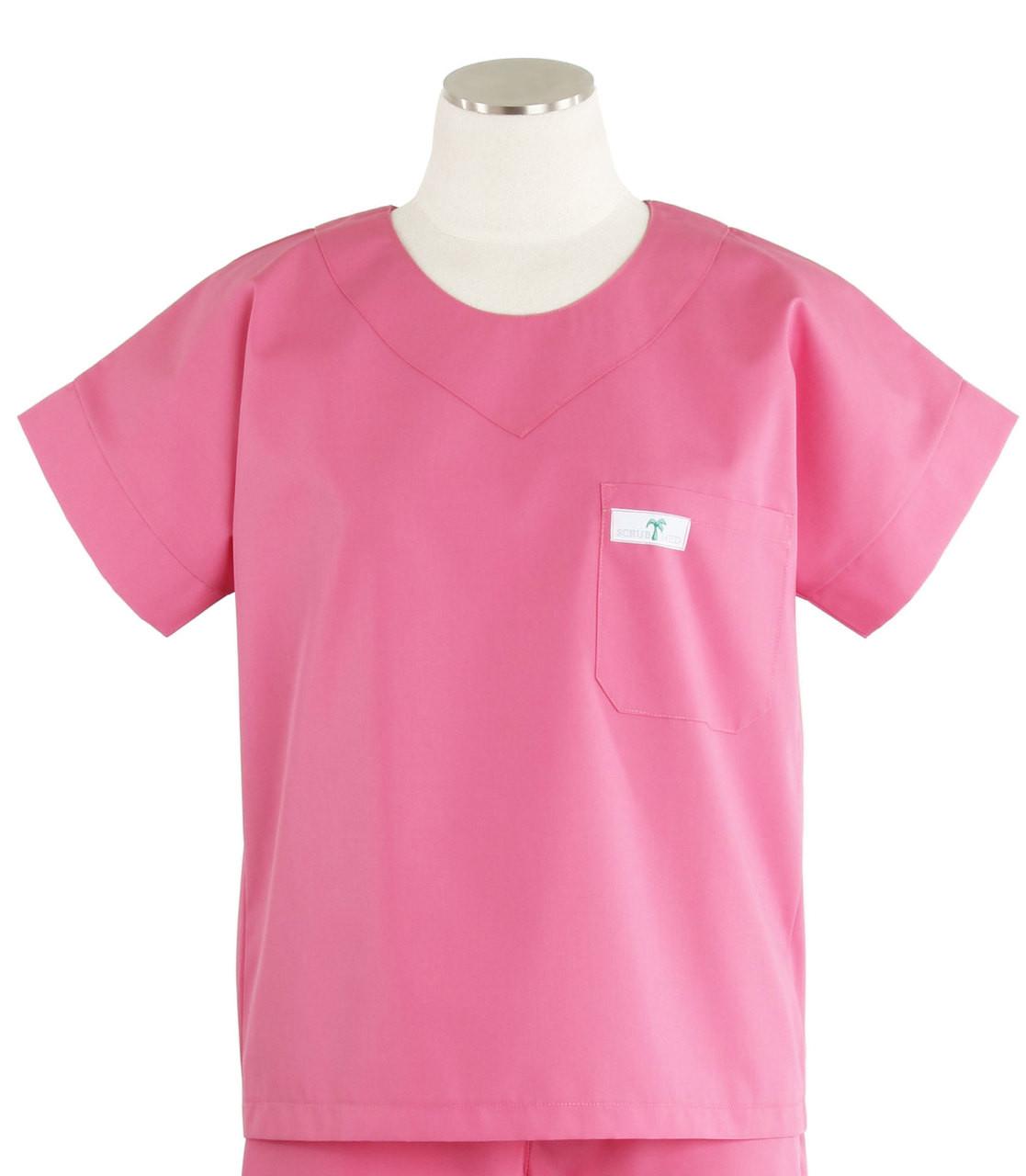 3f4ffdf006e Scrub Med Womens Solid Scrub Top Mesa Rose - Scrub Med