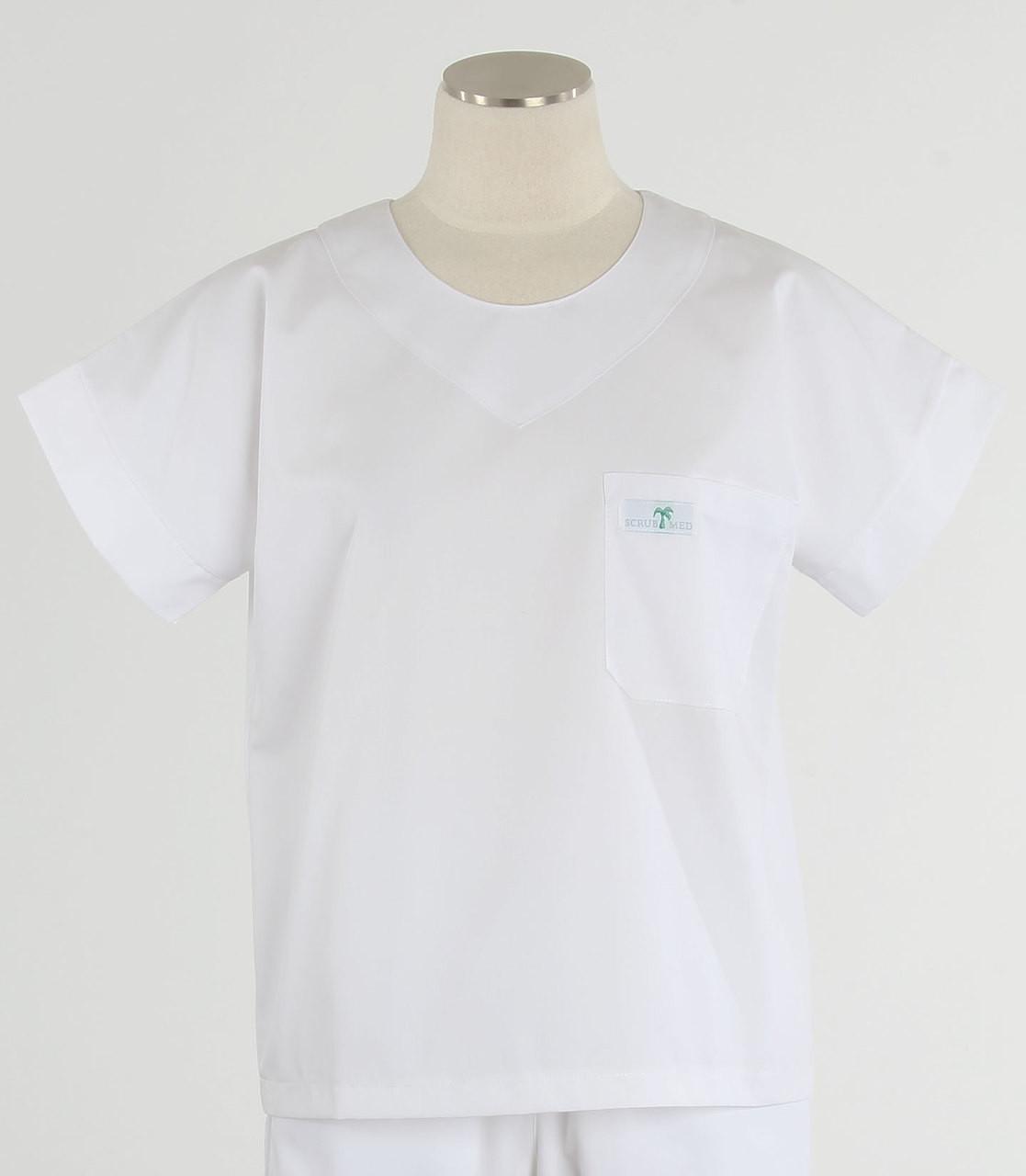 fdea6be624d Scrub Med Womens Solid Scrub Top White - Scrub Med