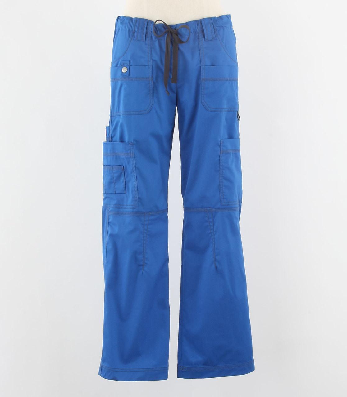 ccf962fc591 Dickies Gen Flex Womens Cargo Scrub Pants Royal - Scrub Med