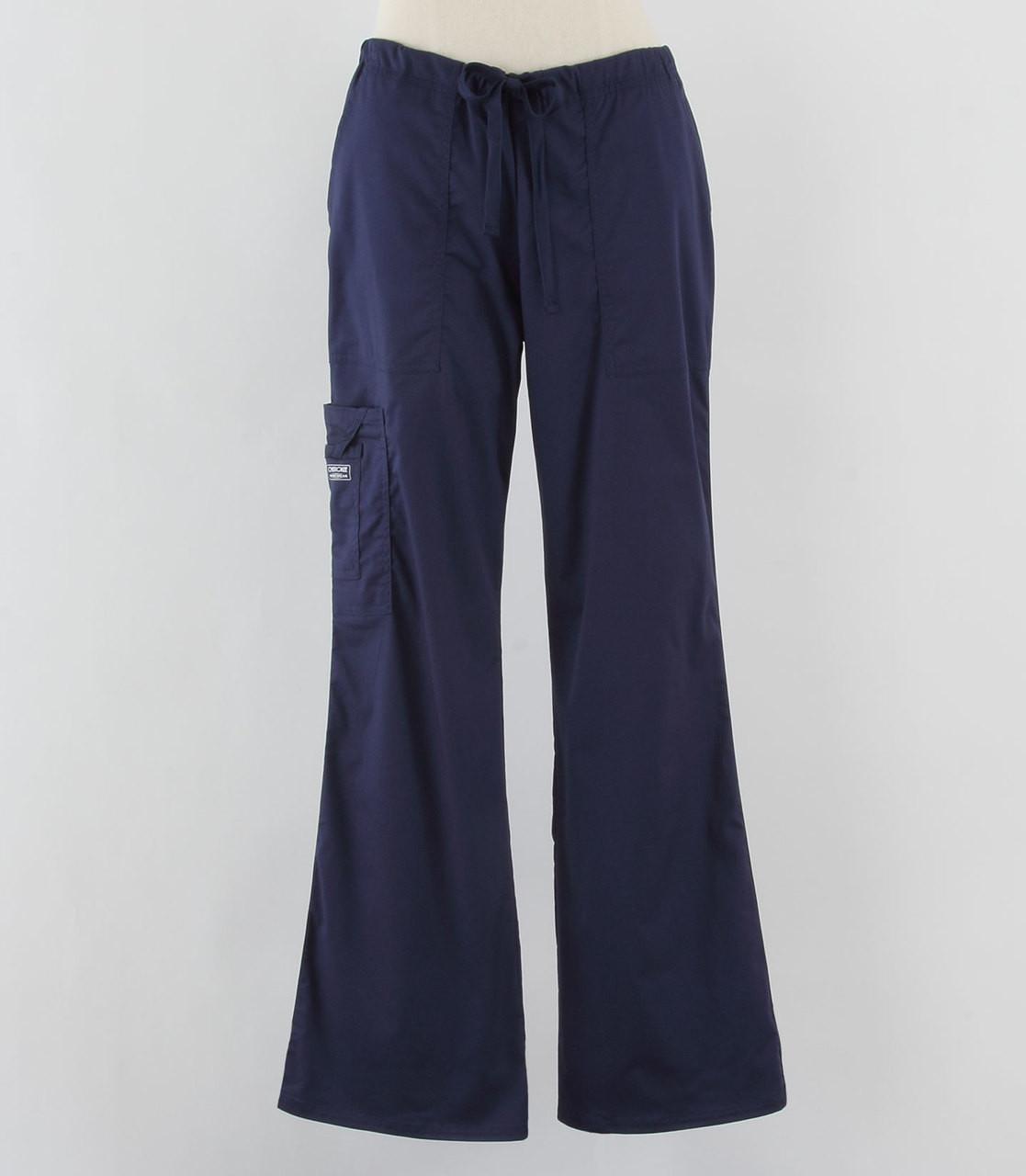 35927a7e61e Cherokee Workwear Core Stretch Womens Cargo Scrub Pants Navy - Scrub Med