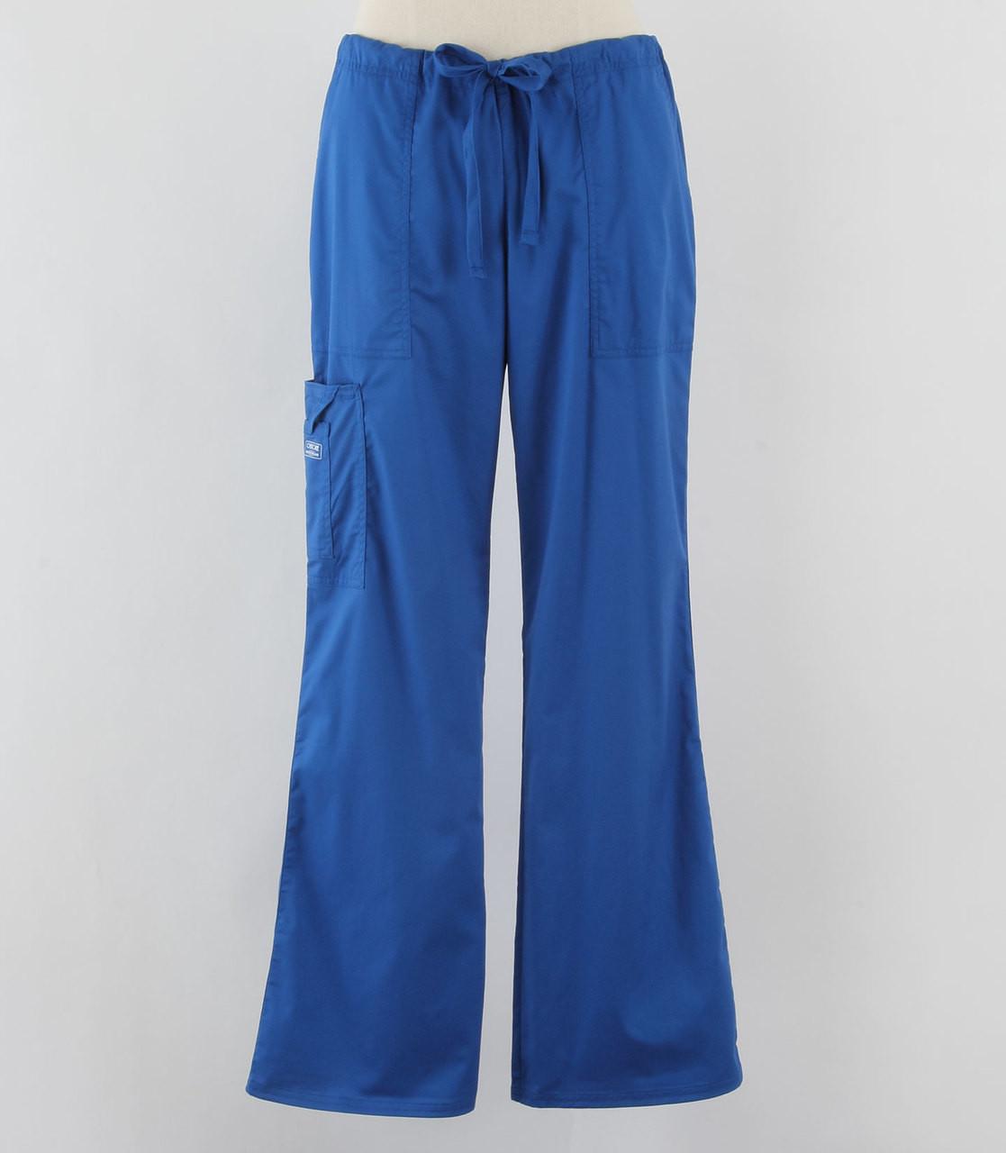 91894ece449 Cherokee Workwear Core Stretch Womens Cargo Scrub Pants Royal - Tall ...