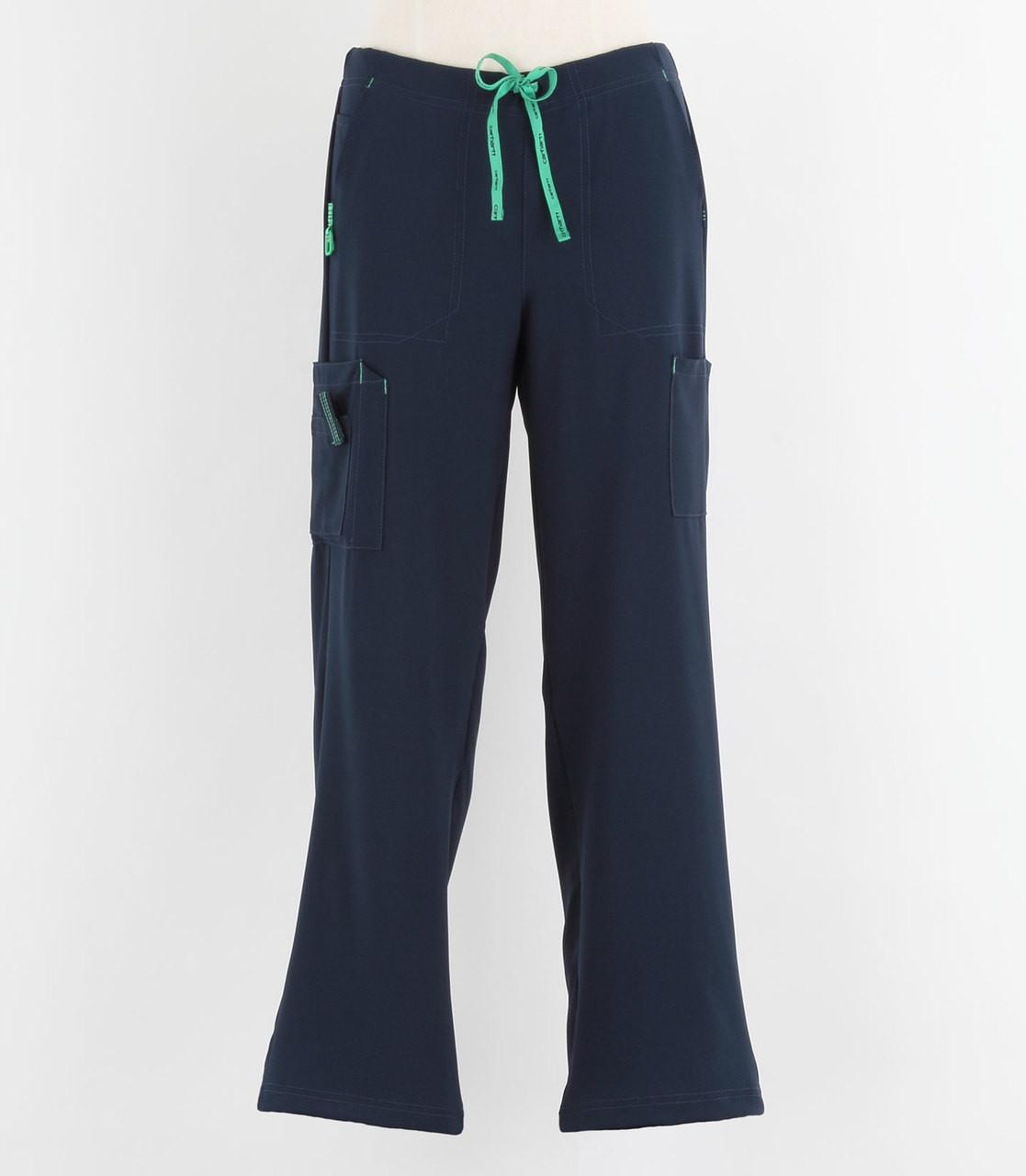 81eaec6d57 Carhartt Womens Cross Flex Boot Cut Scrub Pants Navy - Petite ... carhartt  scrubs