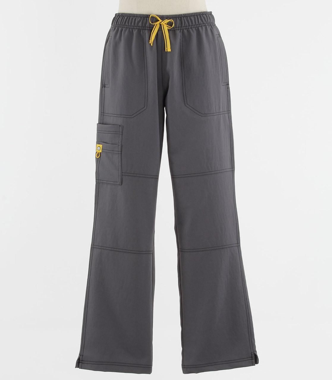 27f519dd4d8 WonderWink Womens 4-Stretch Sporty Cargo Scrub Pants Pewter - Scrub Med