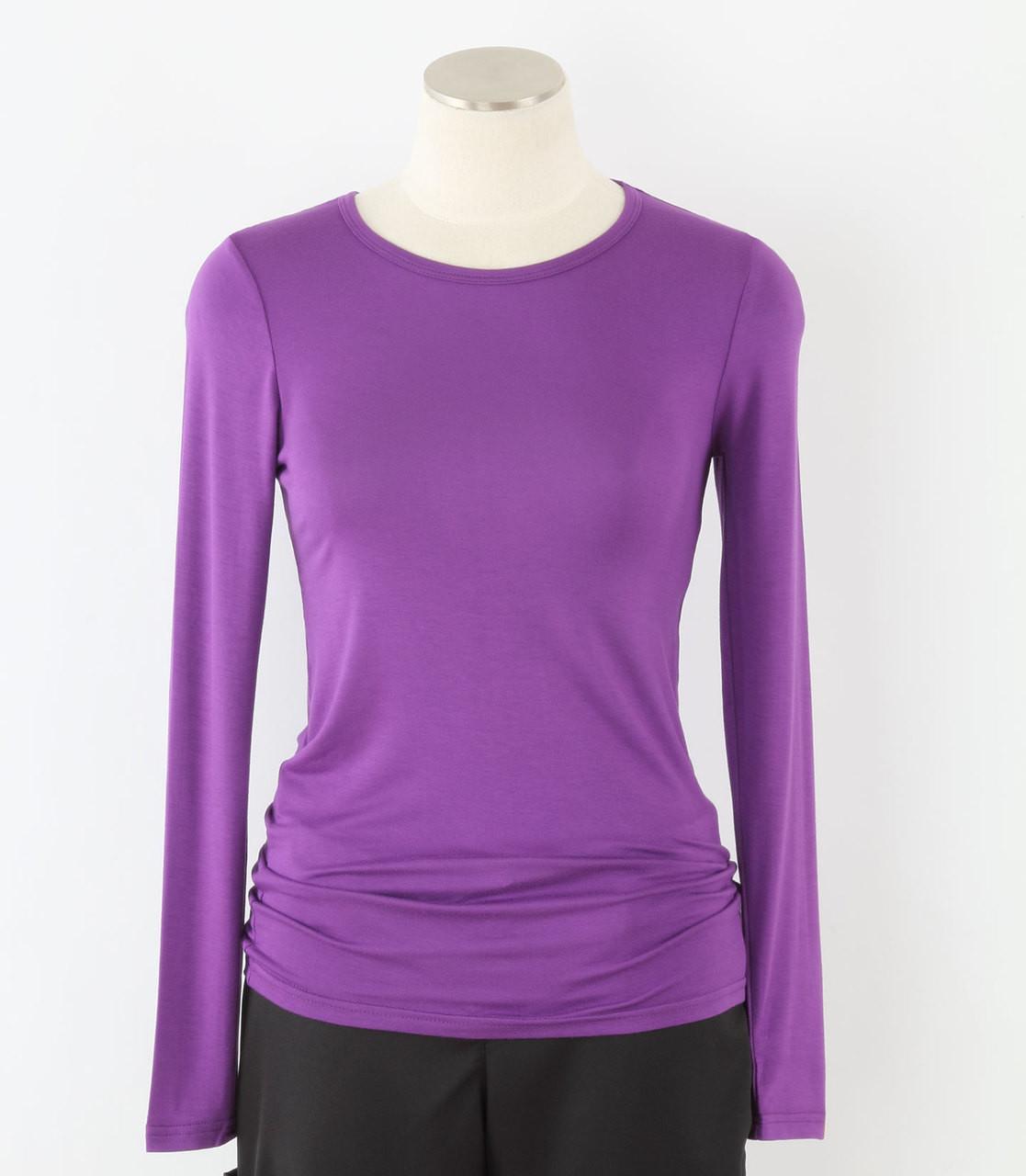 21b7f10efab WonderWink Womens Long Sleeve Tee Electric Violet