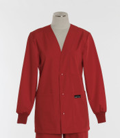 Scrub Med womens v-neck lab jacket on sale red