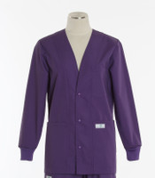 Scrub Med womens v-neck lab jacket on sale purple pleaser