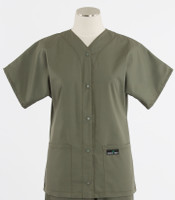 Scrub Med discount womens baseball scrub top moss