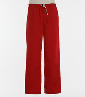Scrub Med Mens discount Belted zipper red scrub pants