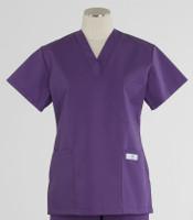 scrub med womens discount purple v-neck scrub top