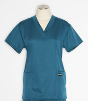 Scrub Med womens v-poc solid stretch scrub top caribbean
