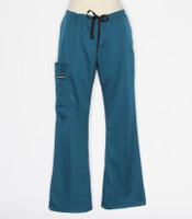 Scrub Med womens flare leg stretch scrub pants caribbean