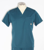 mens carhartt slim fit v-neck scrub top caribbean C15106