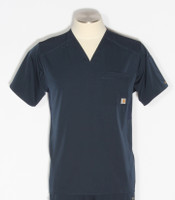 Carhartt Mens Liberty Slim Fit V-Neck Scrub Top C15106 - Navy