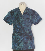 Scrub Med womens v-poc print scrub top marine