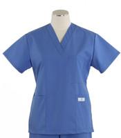 scrub med womens v-poc scrub top bimini blue