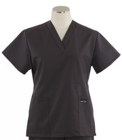 Scrub Med womens v-poc scrub top charcoal