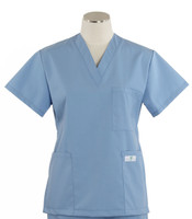 scrub med womens v neck scrub top on sale ceil blue